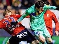 Осасуна сенсационно обыгрывает Барселону