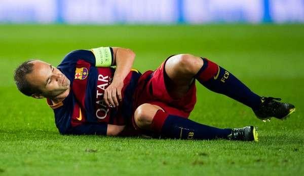 «Барселона»: Иньеста выбыл на 4–6 недель