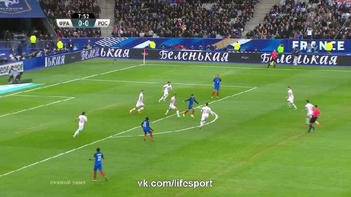Товарищеский матч. Франция— Россия (Обзор матча)