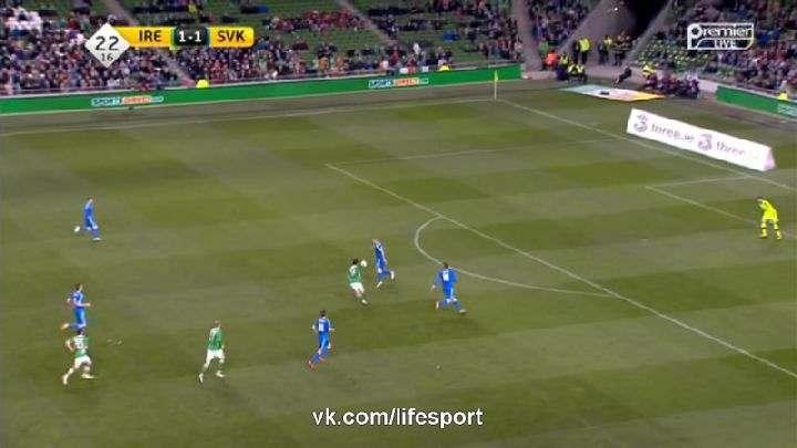 Товарищеский матч. Ирландия— Словакия (Обзор матча)