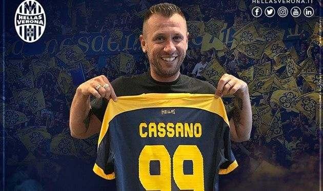 Кассано подписал контракт с Вероной