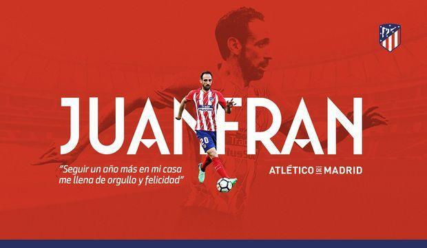 Хуанфран продлил контракт с Атлетико