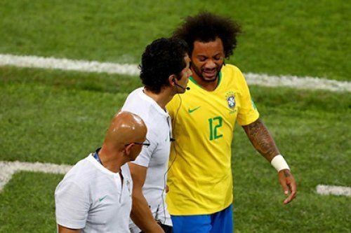 Защитник сборной Бразилии избежал серьезной травмы