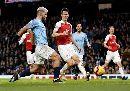 Хет-трик Агуэро принес Манчестер Сити победу над Арсеналом