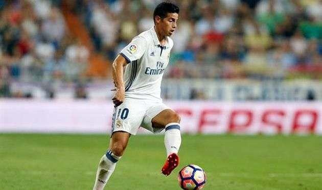 Джеймс Родригес попал в заявку Реала на матч с Легией