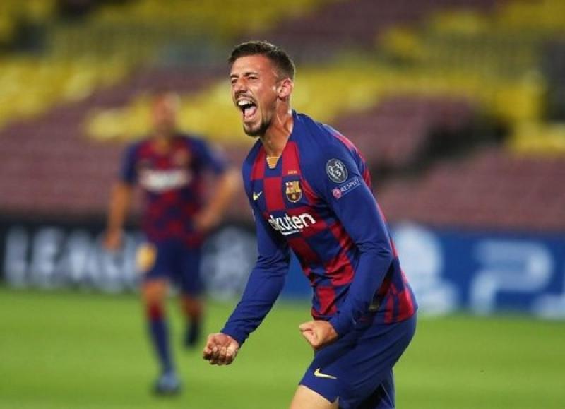 Лангле забил свой первый гол в Лиге чемпионов за Барселону