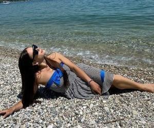 ФОТО. Это мой рай. Как жена Малиновского наслаждается на итальянском пляже