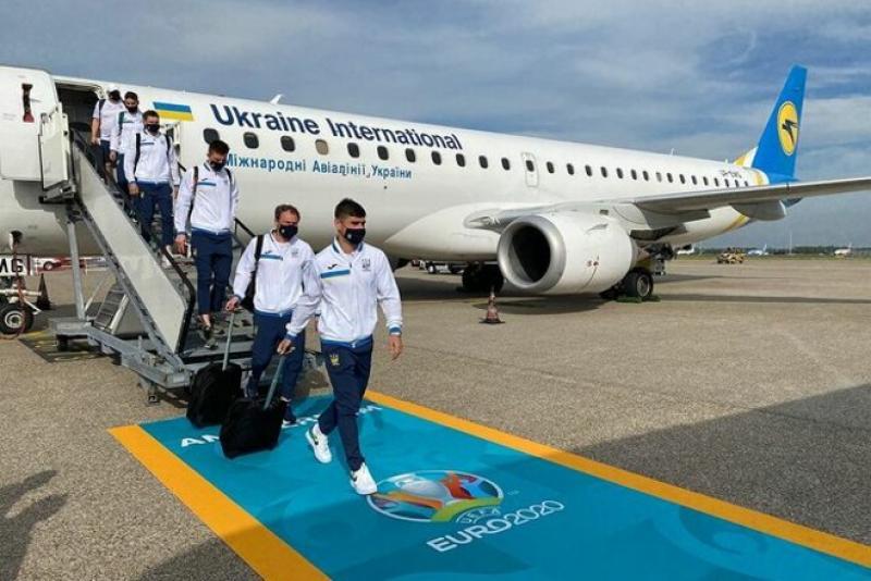 Сборная Украины прибыла в Амстердам на матч Евро-2020 с Нидерландами